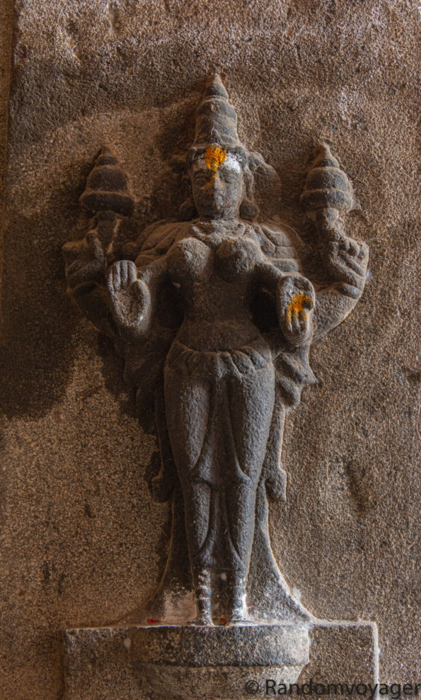 Mother Parvathi at Akhilandeswari-Jambukeswarar temple, Thiruvaanaikaaval, Tamilnadu, India