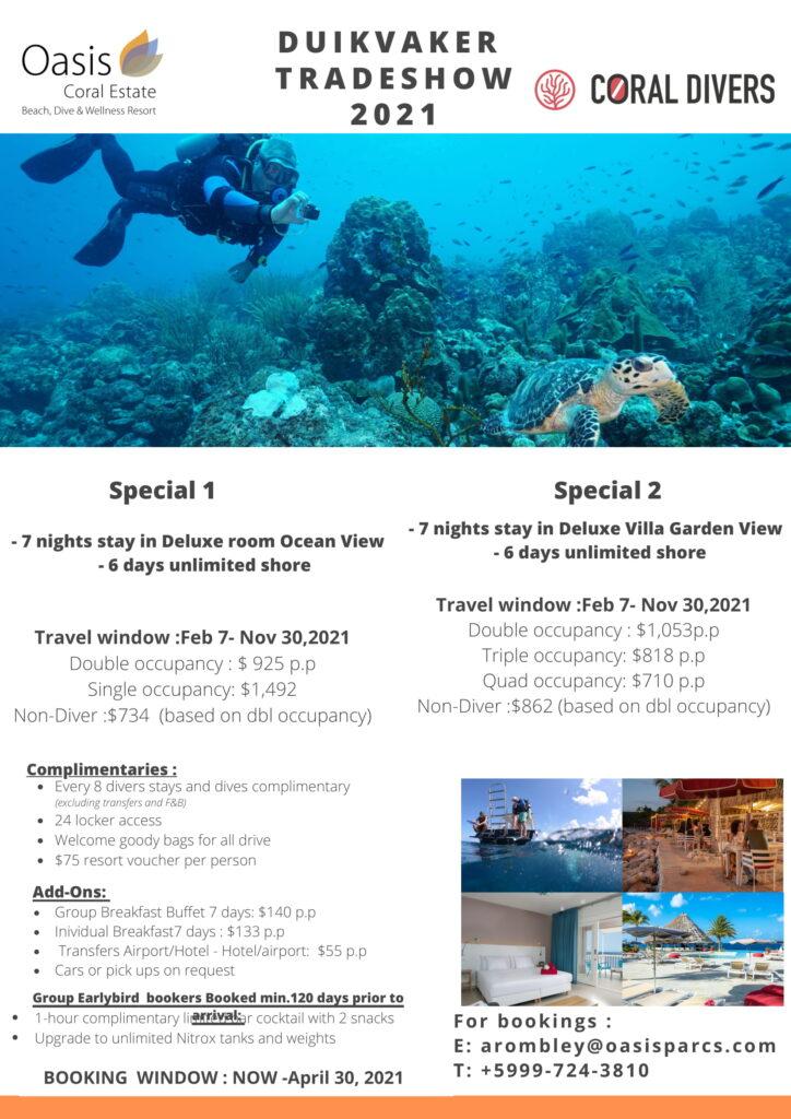 Duikvaker promo Coral Divers