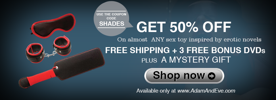 Fifty Shades of Grey Sex Toys 50 Percent OFF Offer Using Coupon Code SHADES