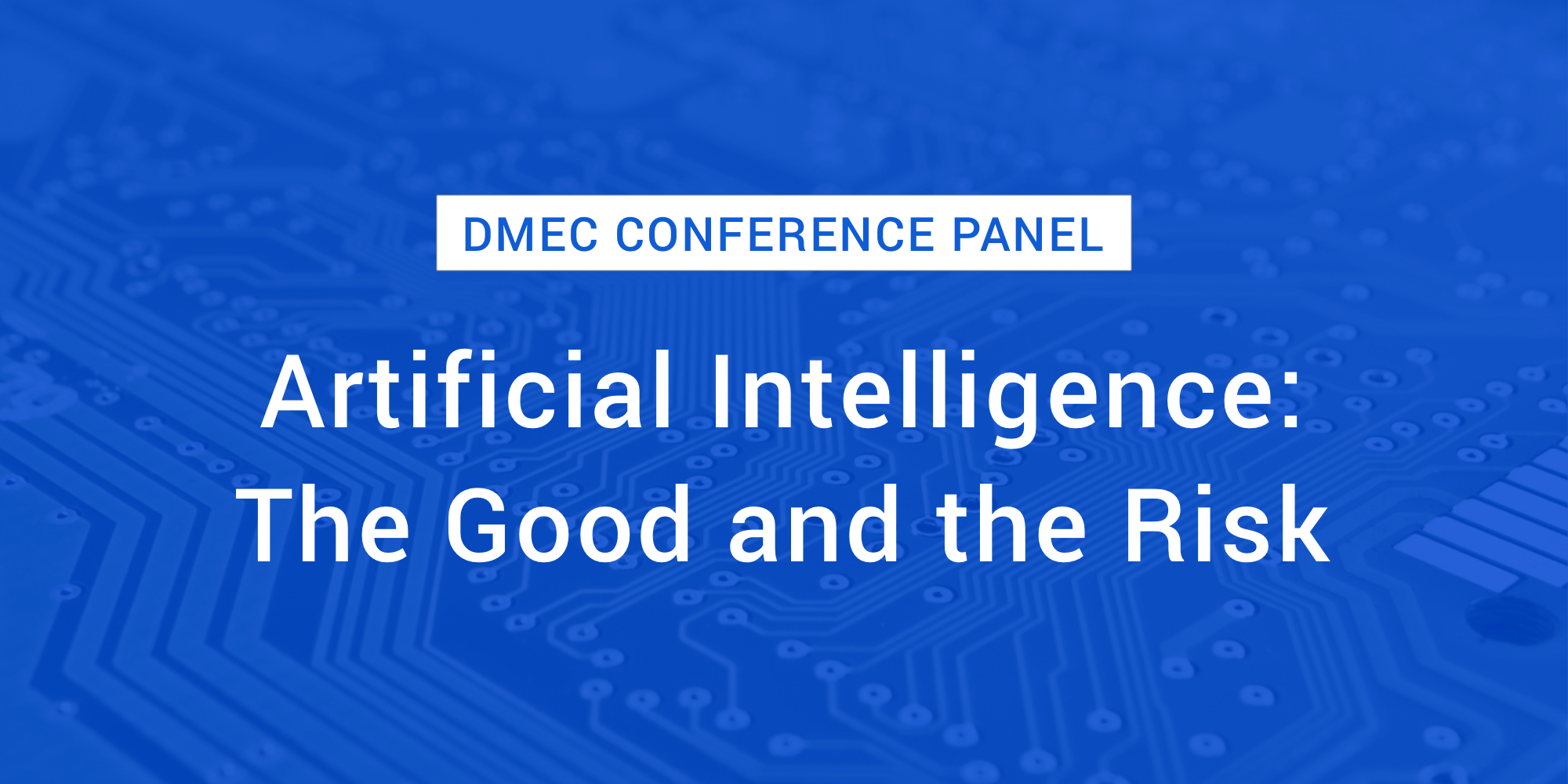 DMEC Conference Panel: Artificial Intelligence - The Good and the Risk