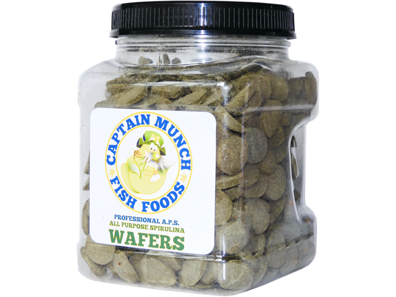 0.5lb Captain Munch Professional A.P.S. All Purpose Spirulina Wafer Food