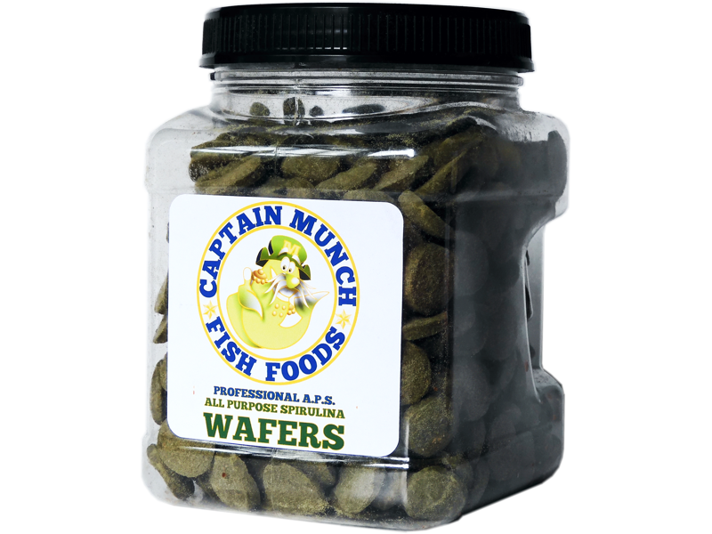1lb Captain Munch Professional A.P.S. All Purpose Spirulina Wafer Food