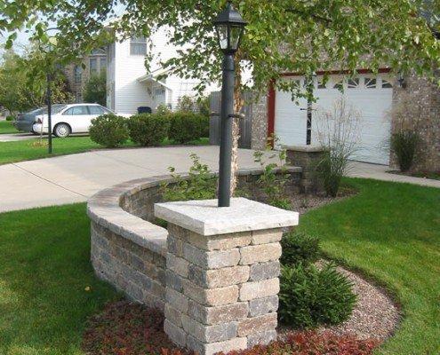 Front Lighting Pillar Shorewood, WI