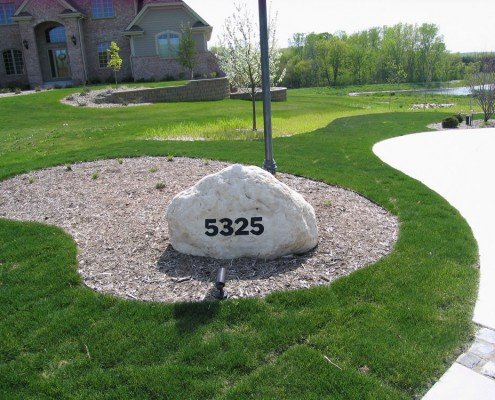 Front Rock with Address Brookfield, WI