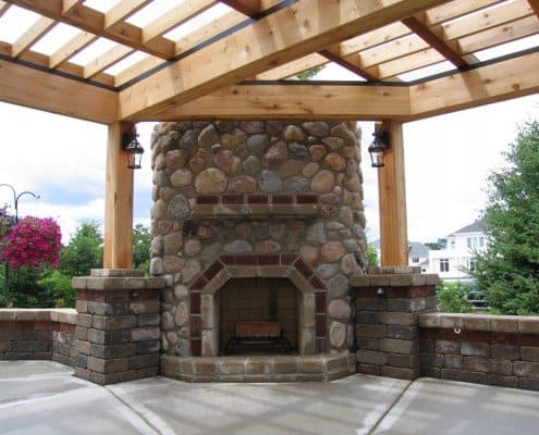 Outdoor Custom Fireplace Franklin, WI