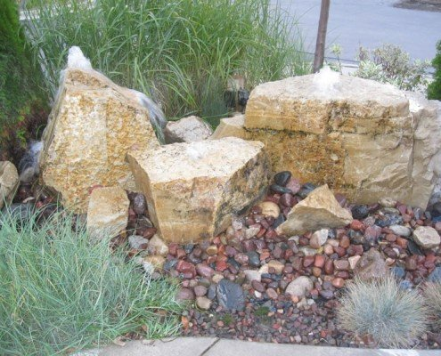 Bubbling Rocks Water Feature Muskego, WI