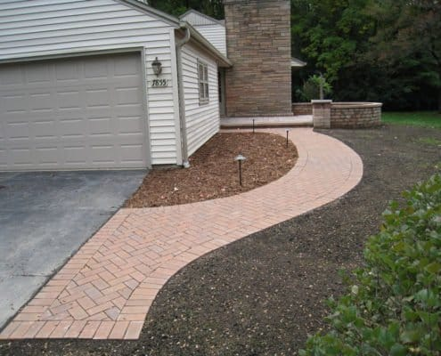 front curved walkway