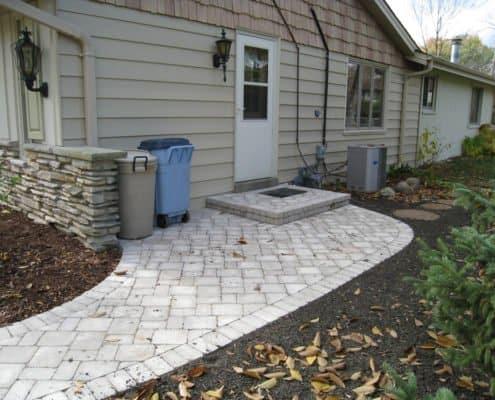 side paver walkway