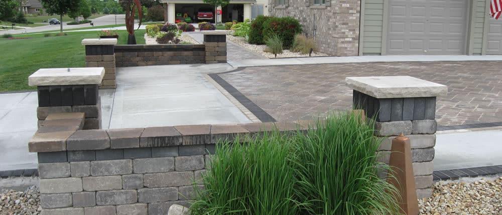 decorative paver driveway