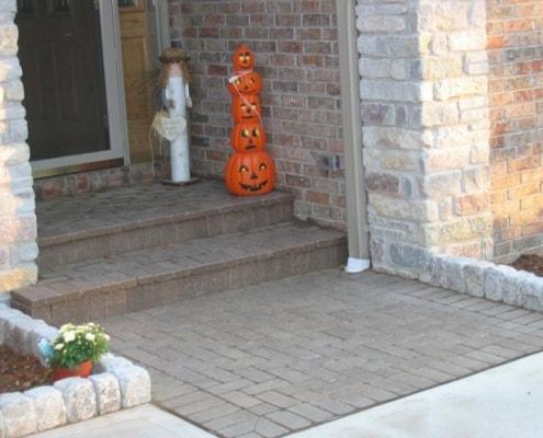 Custom Paver Front Walkway