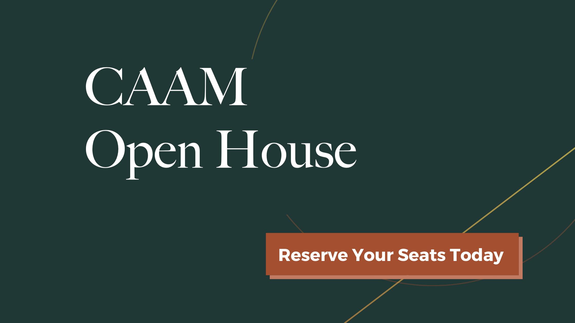 Banner image for CAAM September Open House