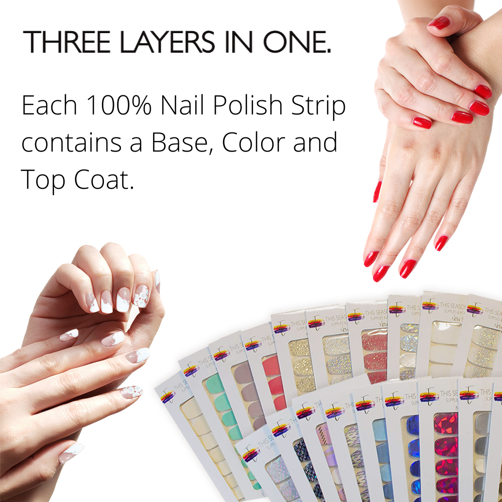its easy to apply nail polish strips for a quick manicure