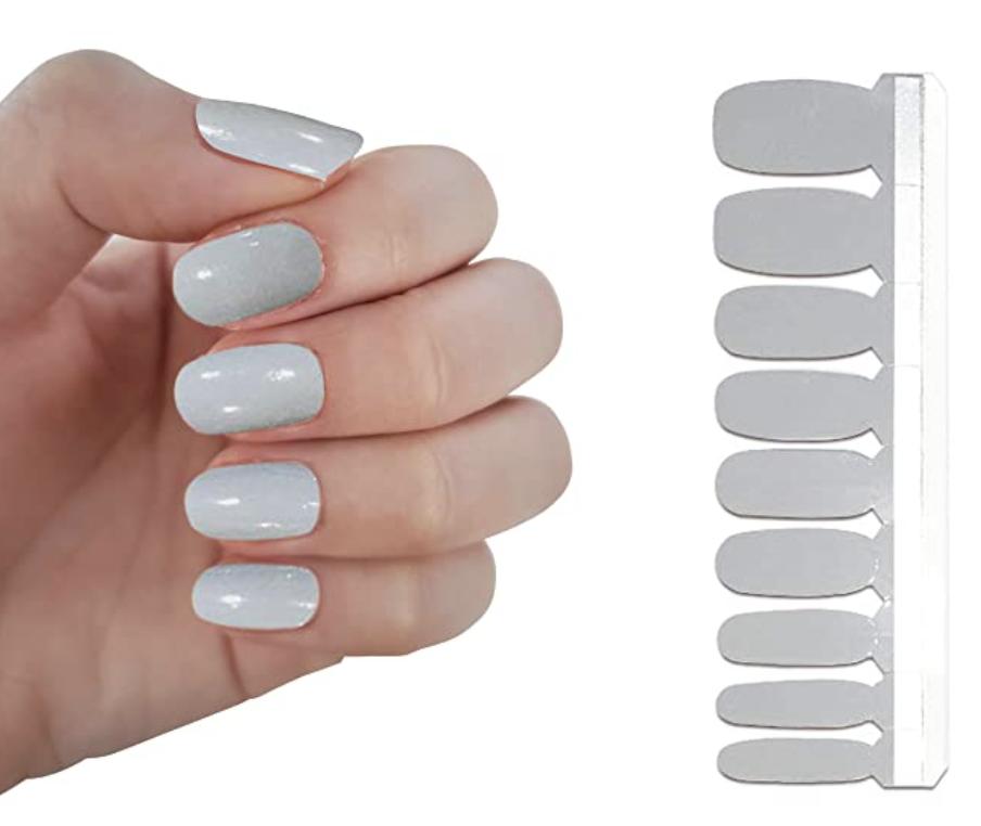 neutral gray nail polish strips - summer nail polish trends for 2021