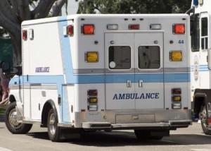Rear View Of Ambulance