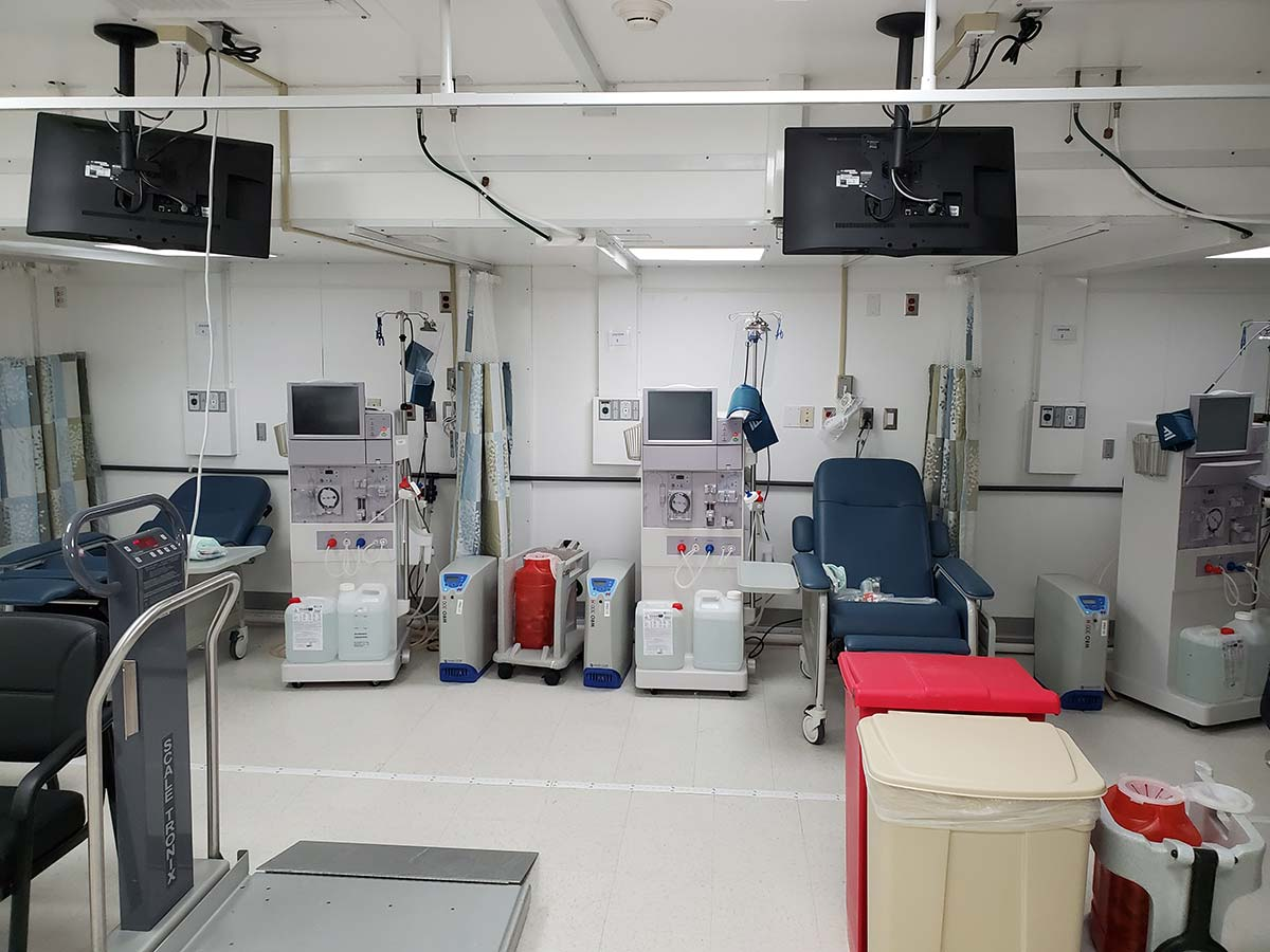 Photo St Croix Mobile Dialysis Facilities Inside Dialysis Stations Close Up