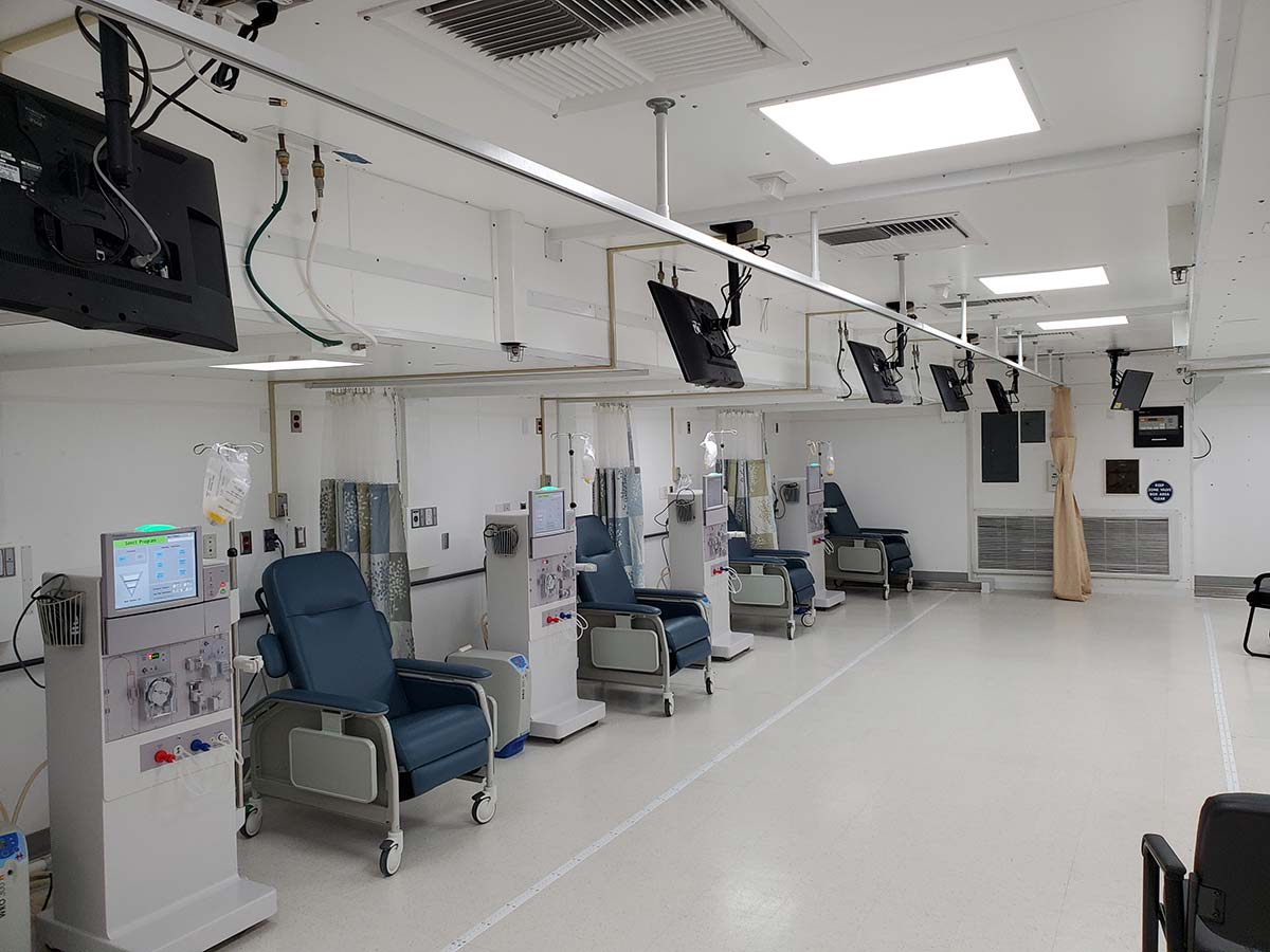 Photo St Croix Mobile Dialysis Facilities Inside Dialysis Stations
