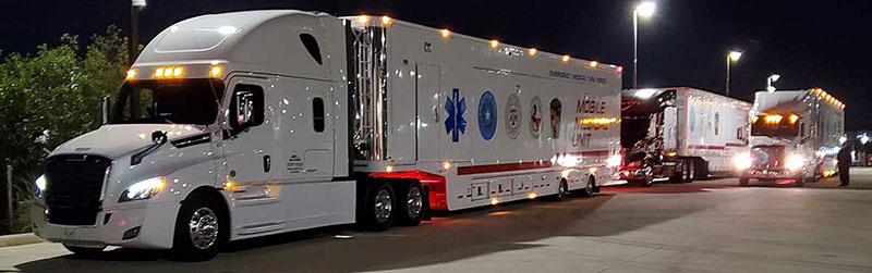 Photo Texas Emergency Covid  Mobile Icu Facility Night View