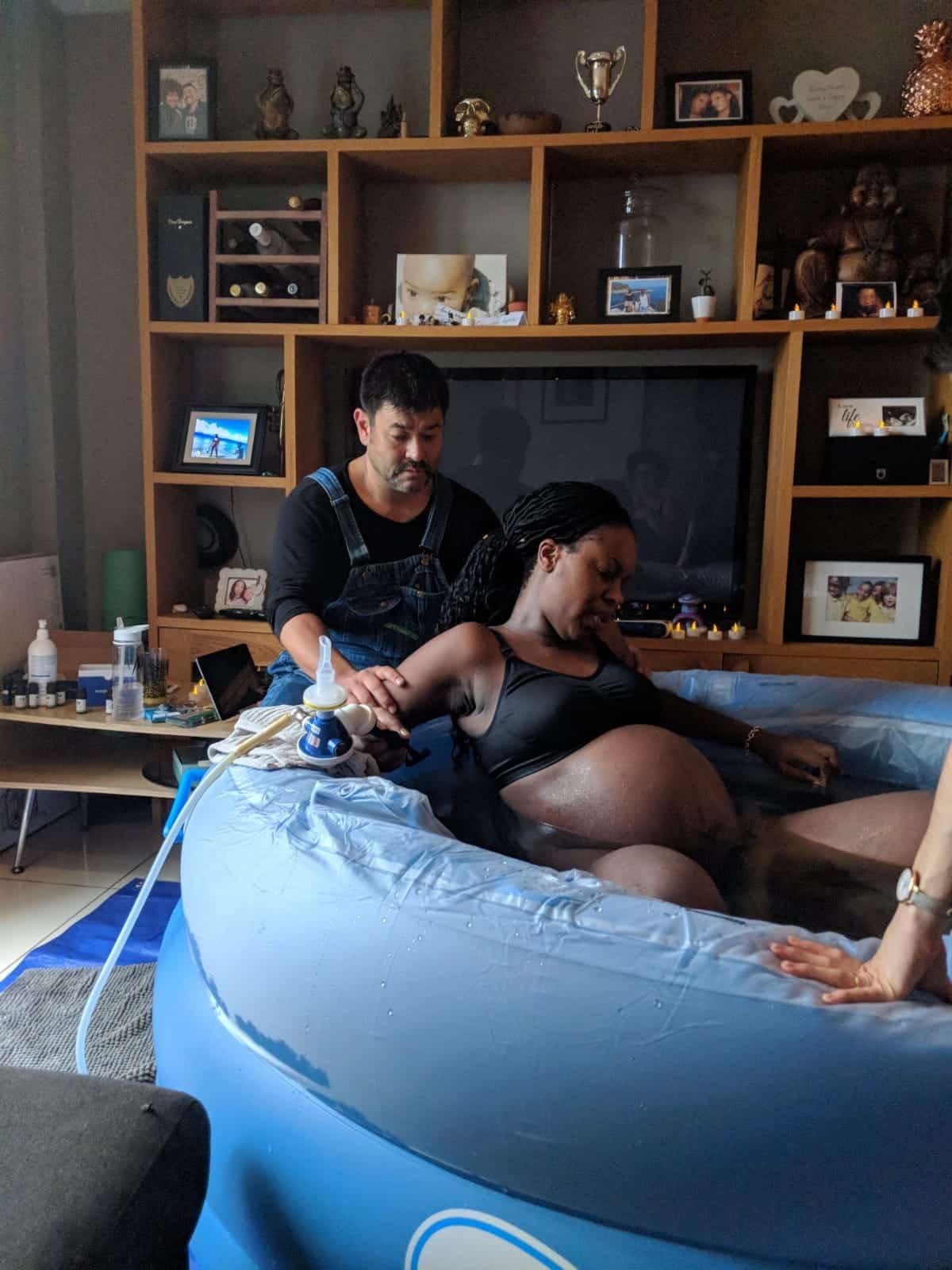 water birth at home