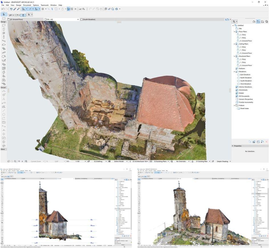 Restauración de la Iglesia de San Martín de Croacia con la ayuda de Archicad y BIMx inge 3d 6