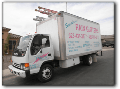 Arizona Rain Gutters Truck
