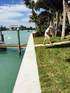 Newly constructed Seawall