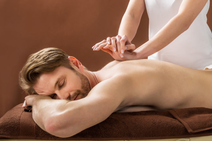 Man receives relaxing thai full body massage at Cozy Green Massage in Darlinghurst