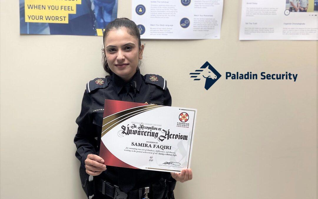 Security guard Samira Faqiri saves a life