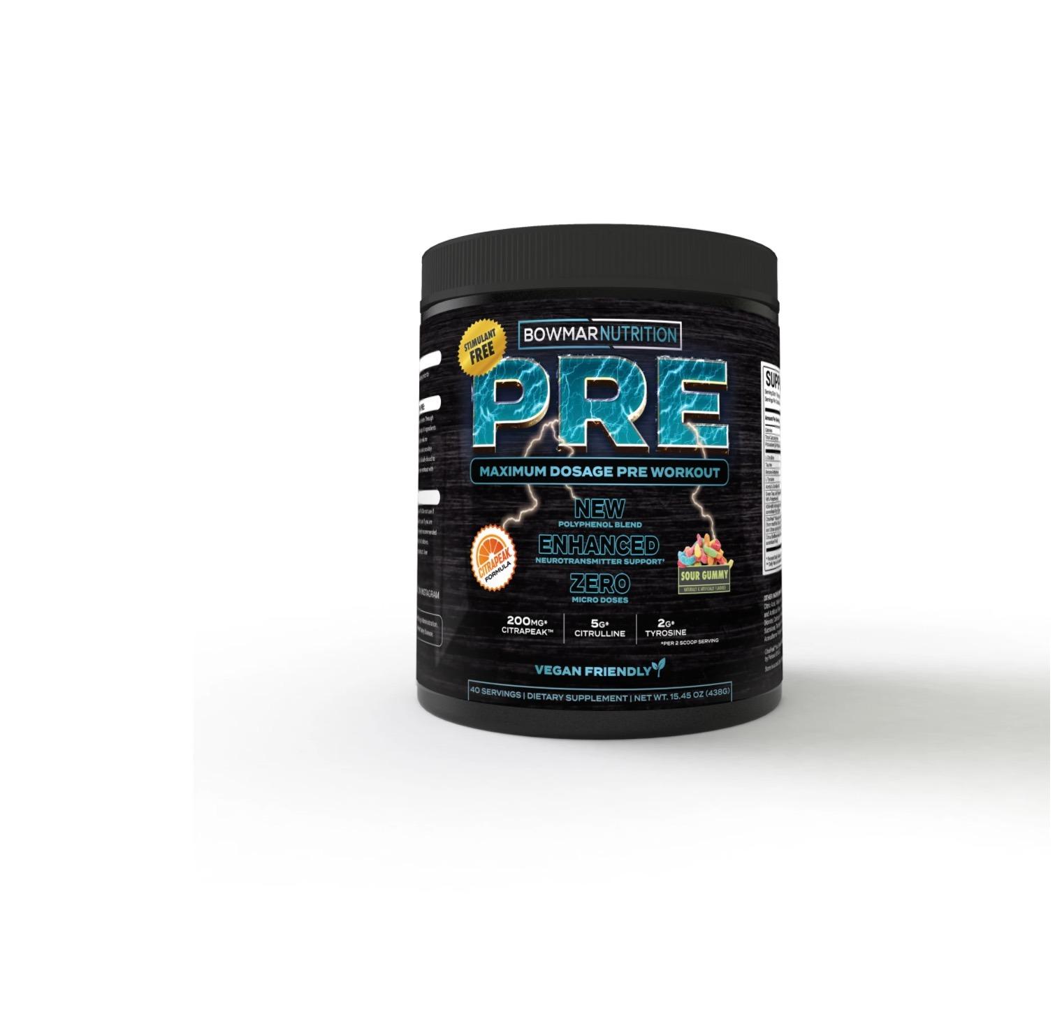 bowmar nutrition pre workout