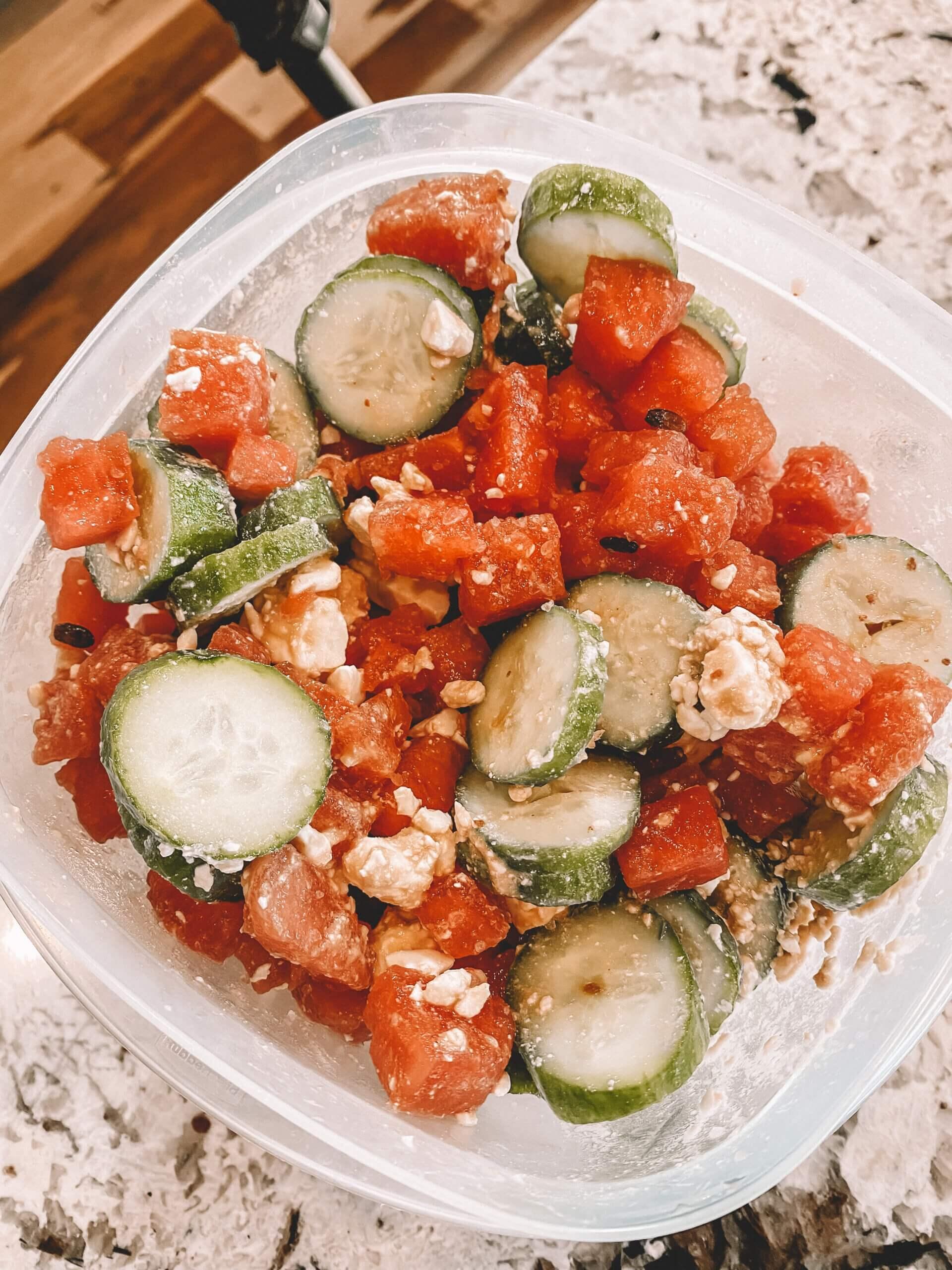 Watermelon, Cucumber, & Feta Summer Salad