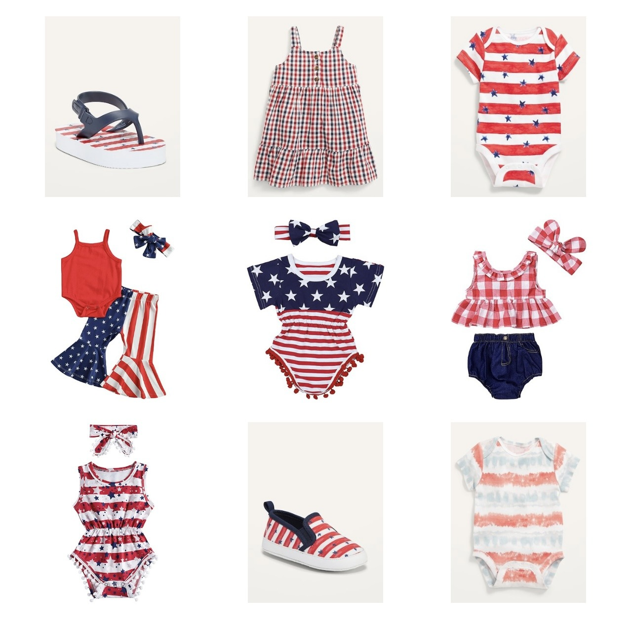 sarah bowmar 4th of july baby girl outfits