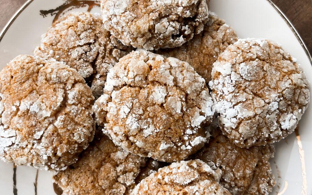 Crinkle Pumpkin Cookies