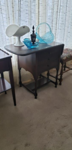 Antique End Table and Chairs