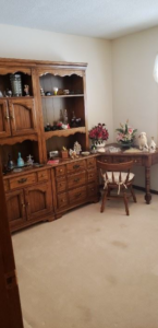 Antique Wood Hutch and Desk