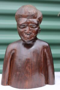 Carved African Woman Statue