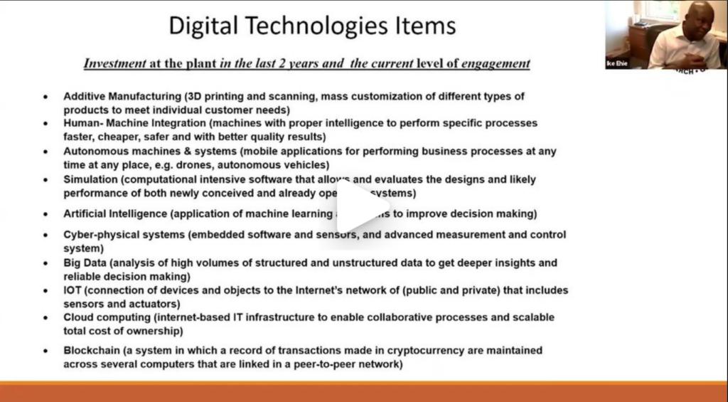 10.  Supply Chain Digitalization – Prof. Ike Ehie