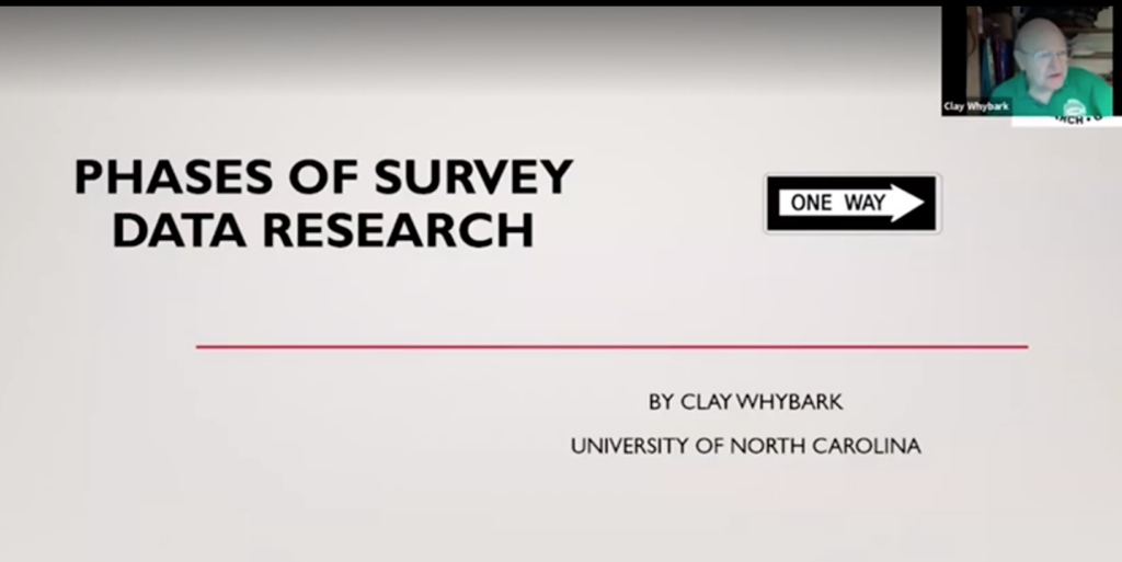 1. Phases of Survey Research – Prof. Clay Whybark
