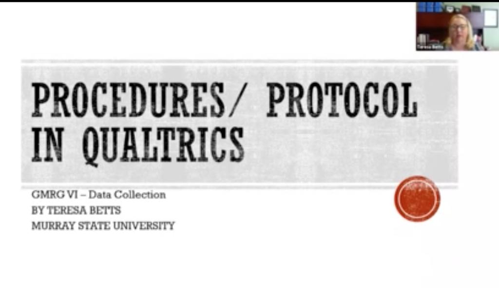 2. Protocols in Qualtrics – Prof. Teresa Betts