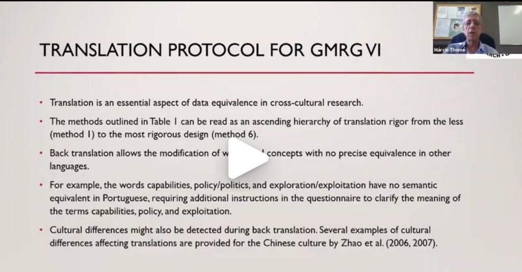 5. Translations Protocol – Prof. Marcio Thomé
