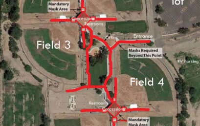 Sports Park site map with labels