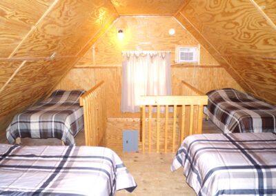 New River Cabins #1-#4 second floor beds