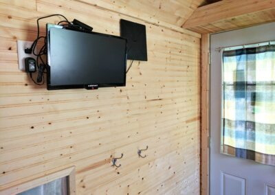 New River Tiny House hotel first floor of tiny house tv - no cable or satellite