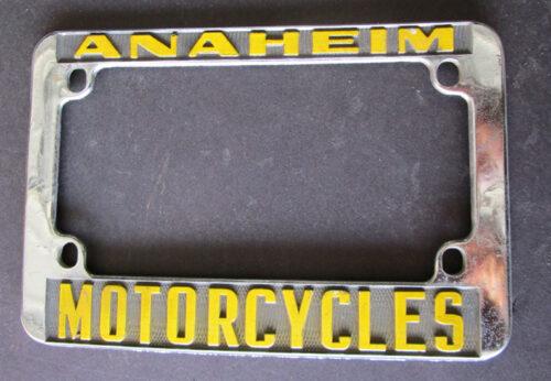 vintage motorcycle license plate frame