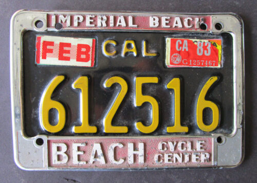 vintage motorcycle plate