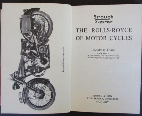 VINTAGE MOTORCYCLE BROUGH