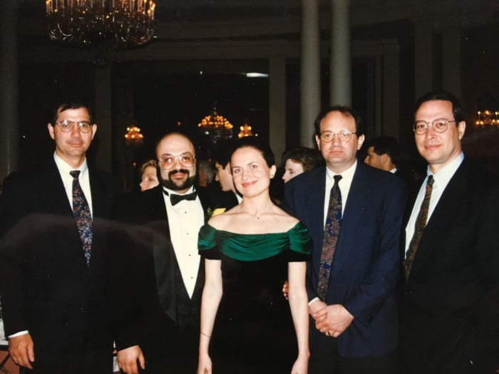 Doctors David And Camelia Davtyan With Leading U.s. Cancer Surgeons, (From Left To Right) Doctors Douglas Evans Md, Merrick Ross Md, And Rafael Pollock Md
