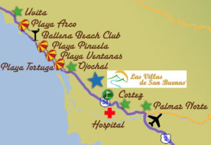 map of beaches in osa costa rica