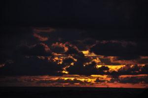 playa ventanas sunset clouds