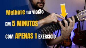 Read more about the article Treino de 5 MINUTOS NO VIOLÃO, melhore sua habilidade com APENAS 1 EXERCÍCIO!