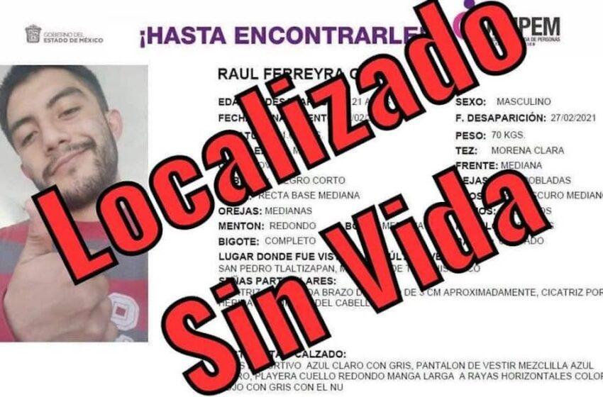 EL JOVEN UNIVERSITARIO RAÚL FERREYRA FUE ENCONTRADO SIN VIDA