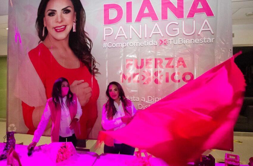 DIANA PANIAGUA ARRANCA CAMPAÑA CON HOMENAJE A VÍCTIMAS DE LA PANDEMIA Y LOS FEMINICIDIOS